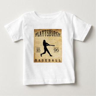1896年のPlattsburghニューヨークの野球 ベビーTシャツ