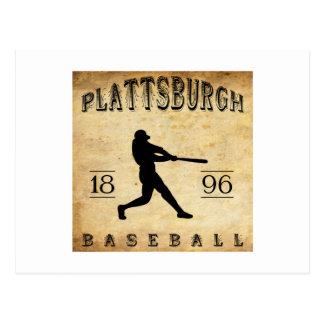 1896年のPlattsburghニューヨークの野球 ポストカード