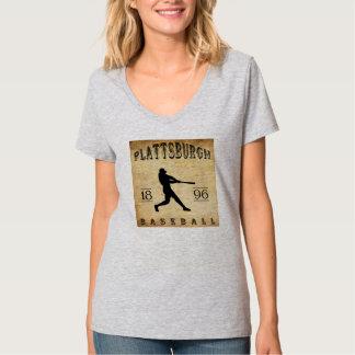 1896年のPlattsburghニューヨークの野球 Tシャツ