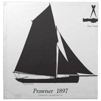 1897年Prawner -贅沢なfernandesの ナプキンクロス
