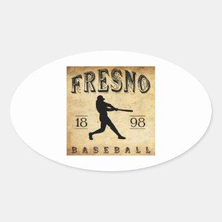 1898年のフレズノカリフォルニアの野球 楕円形シール