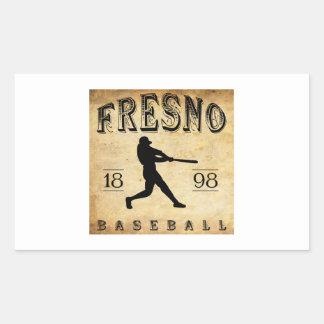 1898年のフレズノカリフォルニアの野球 長方形シール