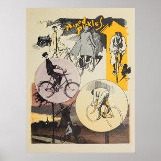 1898年のヴィンテージの自転車のFeiningerの広告の芸術ポスター ポスター