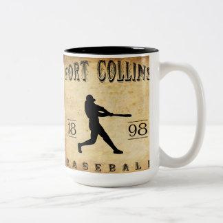1898年のFort Collinsコロラド州の野球 ツートーンマグカップ