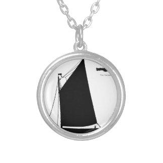 1898年ノーフォークのWherry -贅沢なfernandesの シルバープレートネックレス