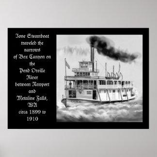 1899年から1910年のオリジナルのアートワーク頃Ioneの蒸気船 ポスター