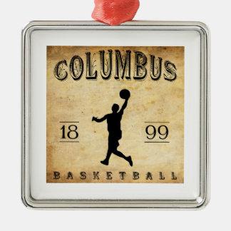1899年のコロンブスオハイオ州のバスケットボール メタルオーナメント