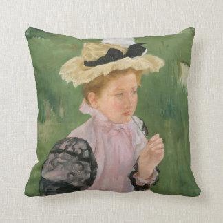 1899年頃若い女の子のポートレート、 クッション
