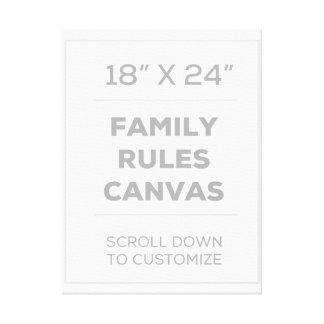 """18""""はx 24""""家族キャンバスを支配します キャンバスプリント"""