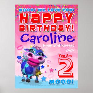"18x24"" GiggleBellies Kissy Mooの誕生日ポスター ポスター"