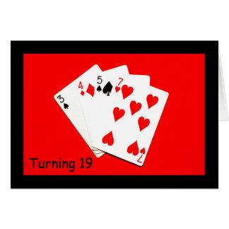 19を回すことは大事です! グリーティングカード