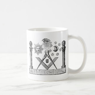 19世紀なフリーメーソンのG Kenning Blockcutの版木、銅版、版画 コーヒーマグカップ
