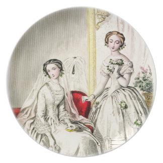19世紀な結婚式のプレート パーティー皿