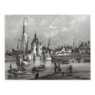 19世紀なEnkhuizen港入口 ポストカード