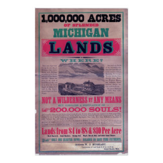 19世紀なGrand Rapidsの鉄道舷側 ポスター