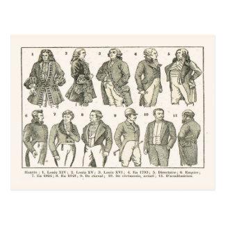 19世紀までのルイ14世からのファッション、 ポストカード