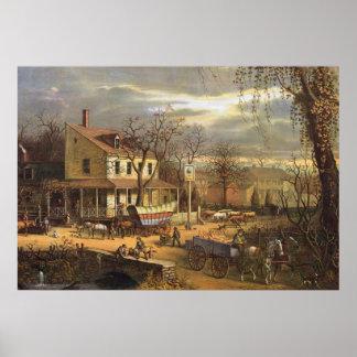 19世紀半ばの米国の町 ポスター