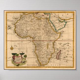 19世紀後半のアフリカの地図 ポスター