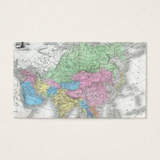 19世紀頃アジアの旧式な地図 名刺