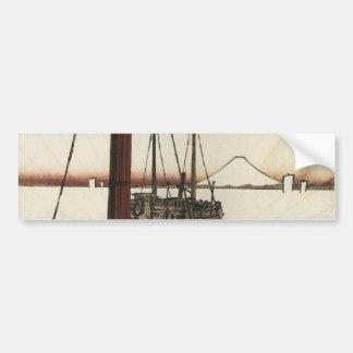 19世紀頃ボートから見られるMt富士 バンパーステッカー