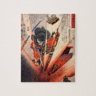 19世紀頃爆発性の武士の絵画 ジグソーパズル