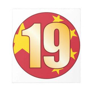 19中国の金ゴールド ノートパッド