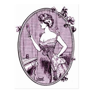 、1900年頃コルセット広告する、ヴィンテージ ポストカード