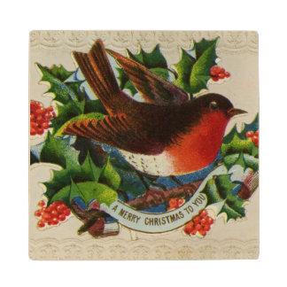1900年頃: 伝統的なクリスマスのロビン ウッドコースター