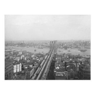 1901年のブルックリン橋の郵便はがき ポストカード