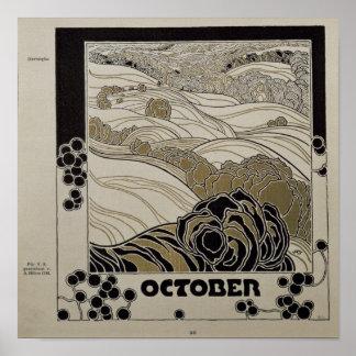 1901年10月 ポスター