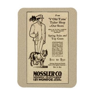 1902年のシカゴMossler Co.の衣類の磁石 マグネット