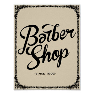 1902年のヴィンテージポスター芸術のプリント以来の理髪店 ポスター