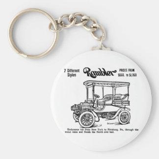 1904年のブラブラ歩く人の自動ヴィンテージ広告 キーホルダー