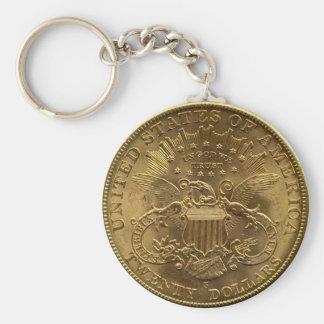 1904 20ドルの硬貨、背部(尾)または$20 キーホルダー