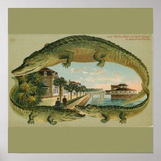 1905年のセントオーガスティンのプリントフロリダ ポスター