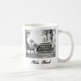1909年のPalm Beachフロリダのトロリーマグ コーヒーマグカップ