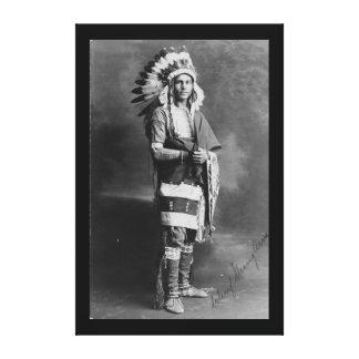 1909年頃天然アメリカインディアンの主な力 キャンバスプリント