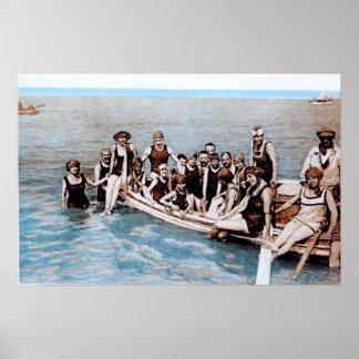 1910年のヴィンテージポスターのまわりの海 ポスター