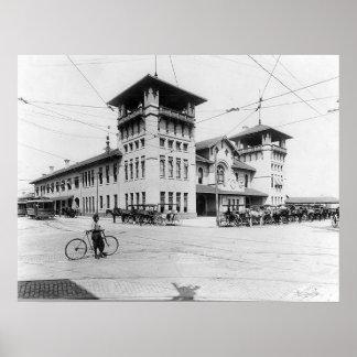 1910年の連合場所のチャールストンSCのプリント ポスター