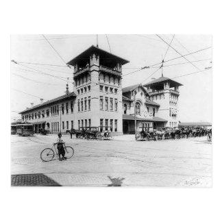 1910年の連合場所のチャールストンSCの郵便はがき ポストカード