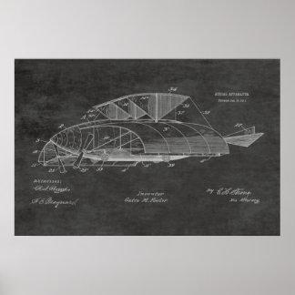 1911年のヴィンテージの飛行機のパテントの芸術のスケッチのプリント ポスター