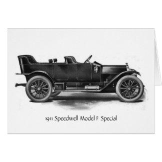 1911年のSpeedwellの自動車、 カード