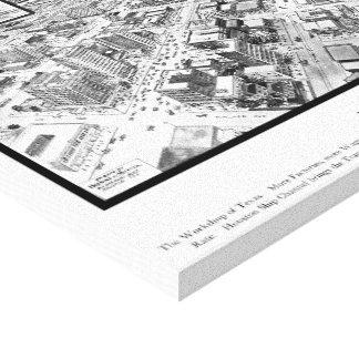 1912年からのヒューストン地図 キャンバスプリント