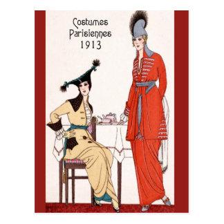 1913パリのファッション ポストカード