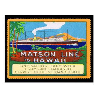 1915年頃Matsonラインポスタースタンプ ポストカード