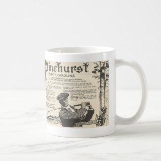 1916年からのPinehurst NCの観光事業広告 コーヒーマグカップ