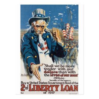 """1917年頃古い""""米国市民""""米国戦争ポスター ポストカード"""