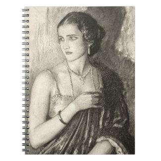 1918年に服を着せている女性 ノートブック