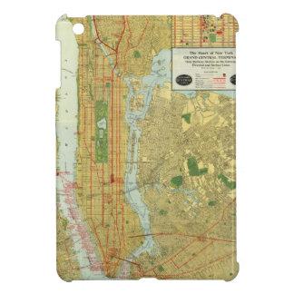 1918年のニューヨークの中央鉄道地図 iPad MINI カバー
