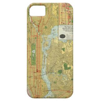 1918年のニューヨークの中央鉄道地図 iPhone 5 COVER